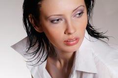 Retrato na camisa branca Foto de Stock Royalty Free