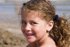 Retrato na praia fotos de stock