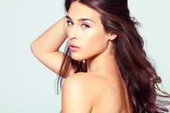 Retrato natural da mulher da beleza Foto de Stock