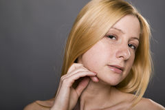 Retrato natural de la mujer hermosa Foto de archivo libre de regalías