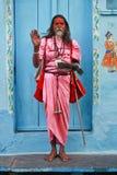 Retrato natural de um sadhu fotos de stock royalty free