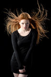 Redhead de la belleza Imagen de archivo libre de regalías