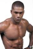 Retrato negro del deportista Imagen de archivo