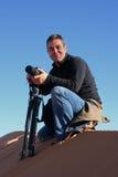 Retrato no deserto fotografia de stock