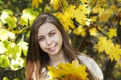 Retrato no parque do outono Fotografia de Stock Royalty Free