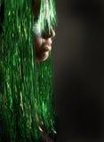 Retrato no verde Fotos de Stock Royalty Free