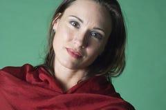 Retrato no vermelho e no verde Fotos de Stock Royalty Free