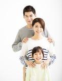 Retrato novo atrativo feliz da família fotos de stock royalty free