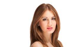Retrato novo bonito da mulher da forma Imagem de Stock