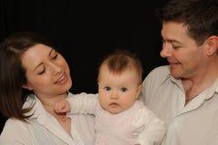 Retrato novo da família Foto de Stock Royalty Free