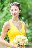 Retrato novo da menina da dama de honra Fotos de Stock Royalty Free