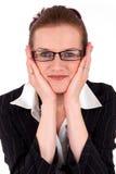 Retrato novo da mulher de negócio foto de stock royalty free
