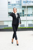 Retrato novo da mulher de negócio Fotografia de Stock Royalty Free