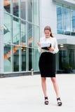 Retrato novo da mulher de negócio Foto de Stock