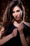 Retrato novo da mulher do encanto Fotografia de Stock
