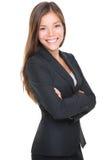 Retrato novo de sorriso da mulher de negócios Imagem de Stock