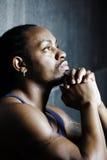 Retrato novo do americano africano Imagem de Stock
