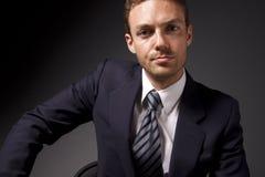 Retrato novo do homem de negócios fotos de stock
