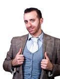 Retrato novo do homem de negócios fotografia de stock royalty free