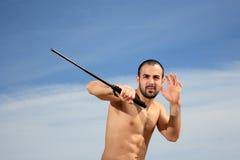 Retrato novo do lutador Imagem de Stock