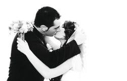 Retrato novo dos pares do casamento imagens de stock royalty free