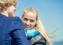 Retrato novo feliz dos pares Fotos de Stock Royalty Free