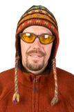 Retrato o homem no chapéu nepalês Imagens de Stock