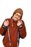 Retrato o homem no chapéu nepalês Fotografia de Stock Royalty Free