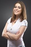 Retrato ocasional da jovem mulher da beleza Fotos de Stock
