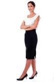 Retrato ocasional da mulher de negócio nova foto de stock