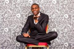 Retrato oficial del hombre joven negro Imagen de archivo
