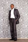 Retrato oficial do homem novo preto Fotografia de Stock