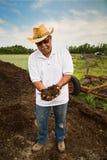 Retrato orgánico del granjero fotografía de archivo libre de regalías