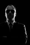 Retrato oscuro de un hombre Fotografía de archivo libre de regalías
