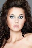 Retrato ou beleza da face da forma da mulher fotografia de stock royalty free