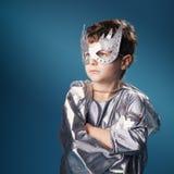 Retrato pequeno do super-herói Foto de Stock Royalty Free