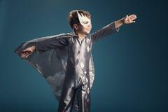 Retrato pequeno do super-herói Foto de Stock
