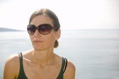 Retrato por el mar Imágenes de archivo libres de regalías