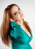 Retrato próximo acima da menina sensual Foto de Stock