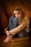 Retrato pre adolescente imagens de stock