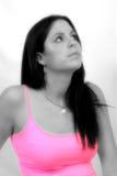 Retrato preto & branco com coloração seletiva Fotografia de Stock Royalty Free