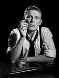 Retrato preto e branco Imagem de Stock Royalty Free