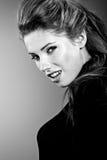 Retrato, preto e branco Foto de Stock Royalty Free