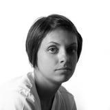 retrato preto e branco Fotos de Stock