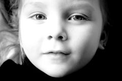 Retrato preto e branco. Imagens de Stock Royalty Free
