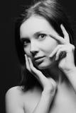 Retrato preto e branco Fotos de Stock Royalty Free