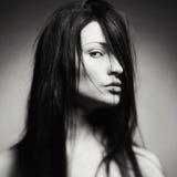 Retrato da arte de uma jovem senhora bonita Imagens de Stock Royalty Free