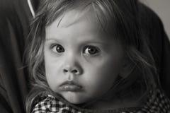 Retrato preto e branco da menina Fotografia de Stock Royalty Free