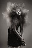 Rapariga com um penteado elegante do volume fotos de stock royalty free