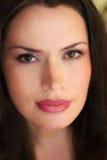 Retrato principal da senhora bonita Imagem de Stock